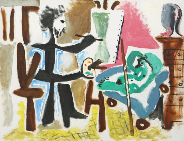 Pablo Picasso, 'Le Peintre et son modele II', 1963, Painting, ICA Miami