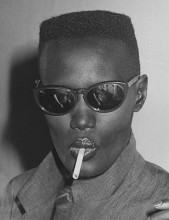 ", 'Grace Jones at Bond's for the ""Warm Leatherette"" premiere party, New York,' 1980, Staley-Wise Gallery"