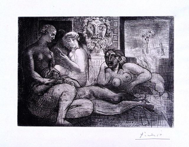 , 'Four Nude Women and a Sculpted Head (Vollard Suite pl. 82),' 1934, Gilden's Art Gallery