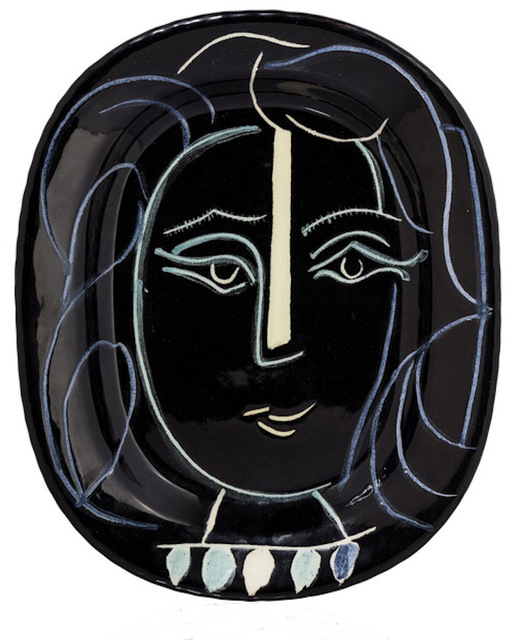 Pablo Picasso, 'Visage au collier', 1953, HELENE BAILLY GALLERY