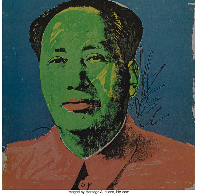Andy Warhol, 'Mao Tse-Tung Announcement Card', 1972, Print, Offset lithograph in colors on paper, Heritage Auctions