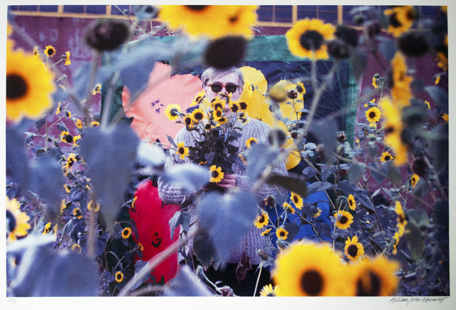 William John Kennedy, 'Andy Warhol in the field of flowers ', 1964, William John Kennedy Collection