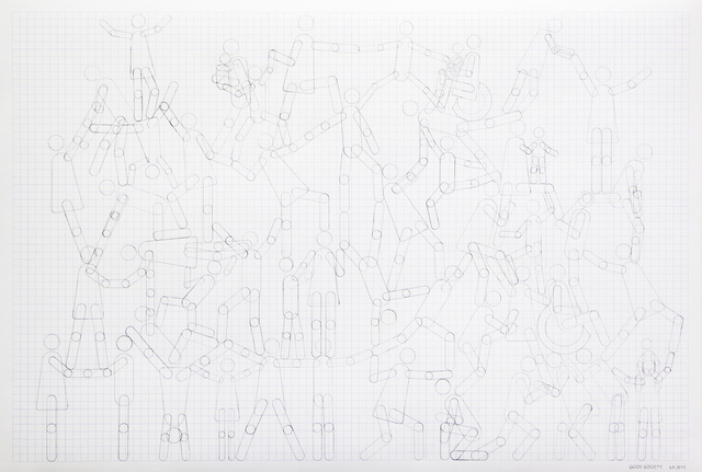 Lars Arrhenius, 'Good and Bad Society', 2014, Drawing, Collage or other Work on Paper, Pencil on paper, diptych, Galleri Magnus Karlsson