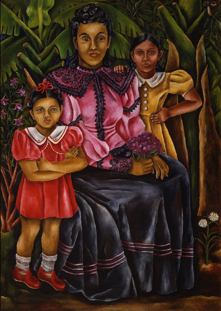 Maria Izquierdo, 'My Nieces', 1940, Painting, Oil on composition board, Whitney Museum of American Art
