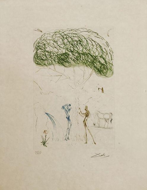 Salvador Dalí, 'SOUS LE PIN PARASOL', 1970, Print, Drypoint in colours, Sworders
