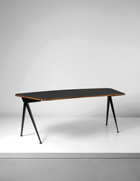 "Jean Prouvé, 'Curved ""Compas"" desk,' ca. 1953, Phillips: Design"