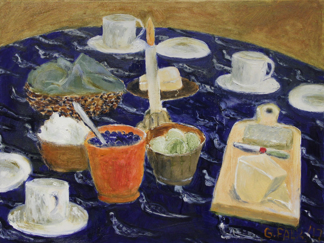 , 'Scones, Fruit, Cheese,' 2017, Michael Gibson Gallery