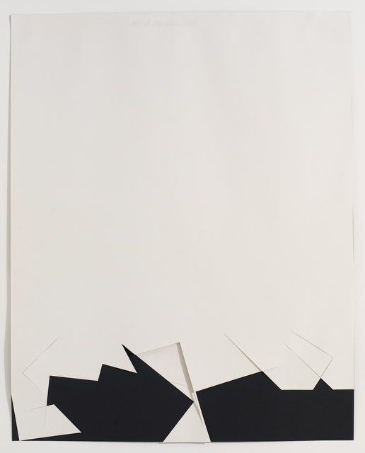 , 'Untitled Cut, N#1,' 1977, Bookstein Projects