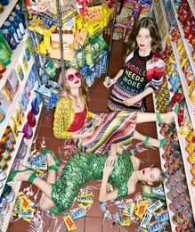 Three Girls With Candy