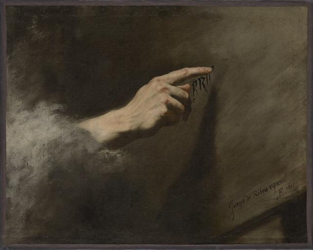 , 'Vision des Belsazar,' 1635, Gemäldegalerie Alte Meister
