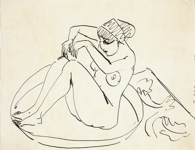 , 'Sitzender Akt,' ca. 1913, Galerie Herold