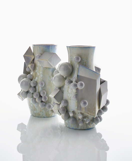 , 'A Pair of Icy Magma Pots,' 2017, Adrian Sassoon