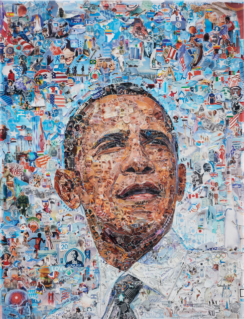 Vik Muniz, 'Obama (from the series 'Pictures of Magazine 2')', 2012, Phillips