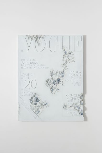 Daniel Arsham, 'Blue Calcite Eroded Vogue Magazine', 2019, Perrotin