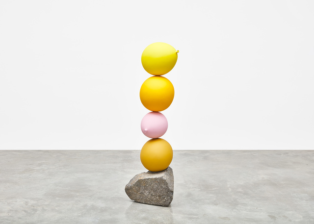 , 'Untitled (Short People) Yellow, Yellow, Pink, Yellow,' 2018, Tina Kim Gallery