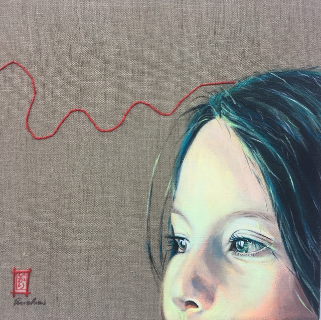 , 'Red thread no. 03,' 2017, Kate Oh Gallery