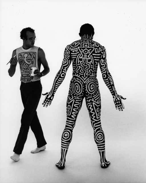 , 'Bill T. Jones, body painted by Keith Haring, London,' 1983, Grey Art Gallery