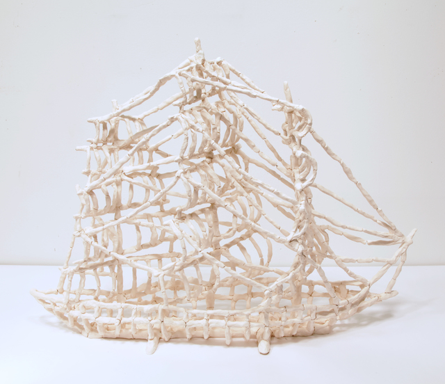 , 'Bone Clipper Ship 2,' 2016, Burning in Water
