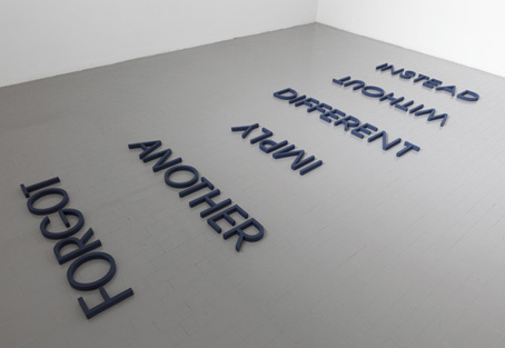 , 'Cobalt Blue Word List,' 2012, Galleria Massimo Minini