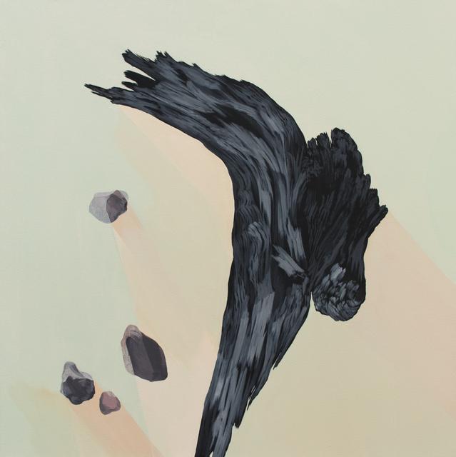 , 'of breaking, of rooting, of uprooting (blue palo verde, monzogranite pebbles),' 2017, Galerie D'Este