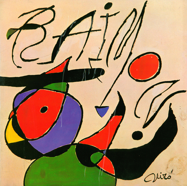 Joan Miró, 'Joan Miró Vinyl Record Art', 1979, Print, Off-set lithograph on vinyl record cover, Lot 180