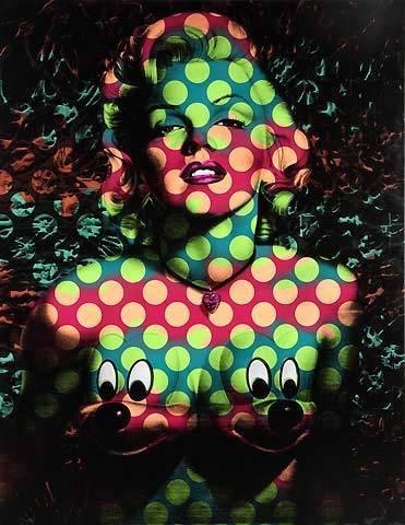 Ron English, 'Splash Marilyn Mickeys Wave Dot Pattern; Wave 1: Green / Dark Blue; Wave 2: Peach / Maroon', Eternity Gallery