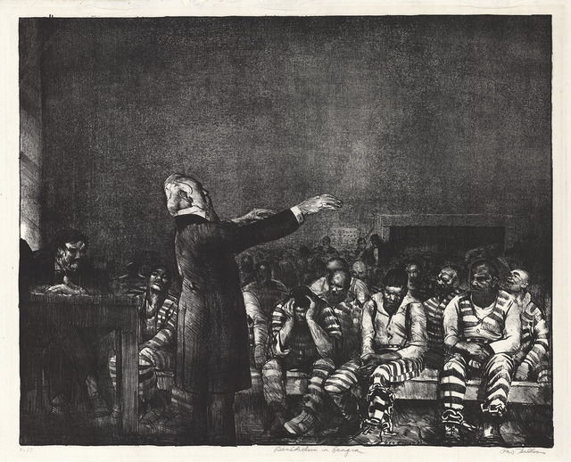 , 'Benediction in Georgia.,' 1916, The Old Print Shop, Inc.