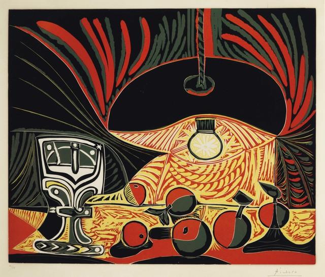 Pablo Picasso, 'Nature morte au verre sous la lampe', 1962, Print, Linocut in colors on Arches paper, Christie's
