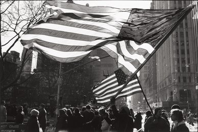 Two Americna Flags, Freed Iranian Hostage Tickertape Parade