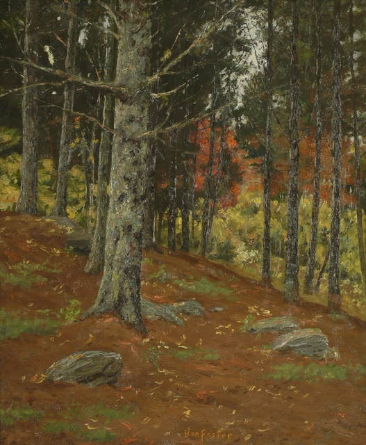 Ben Foster, 'Hillside Trees', ca. 1910, Private Collection, NY