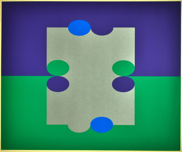 , '1 # 3 Court (Purple/Green),' 1971, Herringer Kiss Gallery