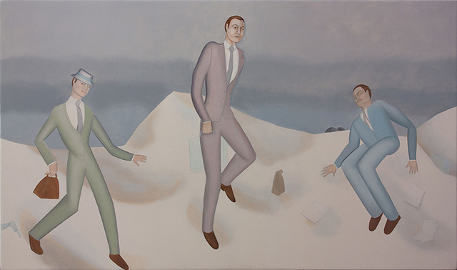 , 'Businessmen in the snow,' 2014, Dolby Chadwick Gallery