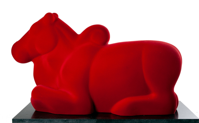Arunkumar H. G., 'Nandi in red', 2008, Sculpture, Velvet on fiberglass, Museum of Art & Photography