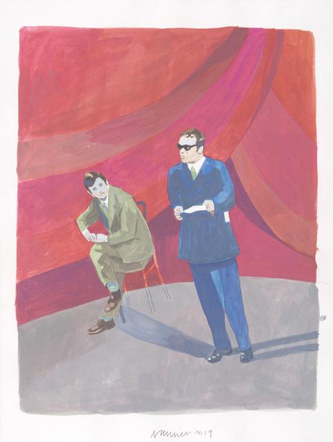 Jan Vanriet, 'Heldenleven 24, Dichter', 2019, Drawing, Collage or other Work on Paper, Gouache on paper, Galerie Zwart Huis