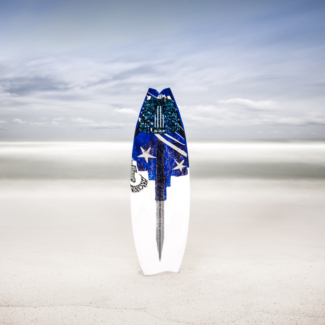 , 'Surfboard at White Sands - Color,' 2019, THE WHITE ROOM GALLERY