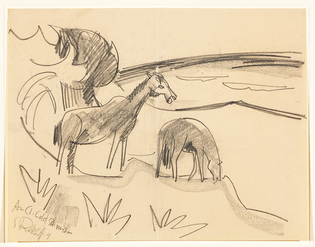 , 'Pferde an der See (Horses by the Sea),' 1919, Galerie Herold