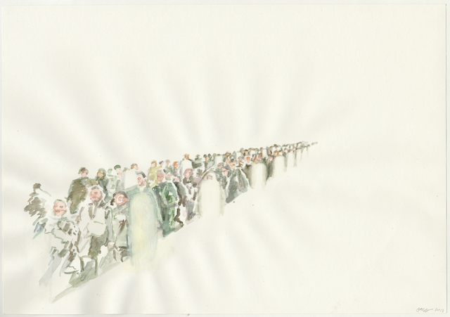 Olga Chernysheva, 2019, Charcoal on paper, Galerie Iragui