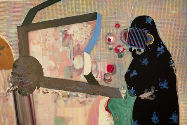 Taha Heydari, 'Real Violence', 2021, Painting, Acrylic on wood, Haines Gallery