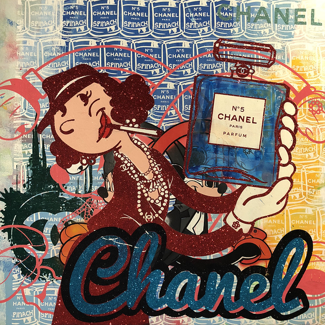 , 'Olive Oyl Chanel #5 in Cherry Abstract,' 2018, Avant Gallery