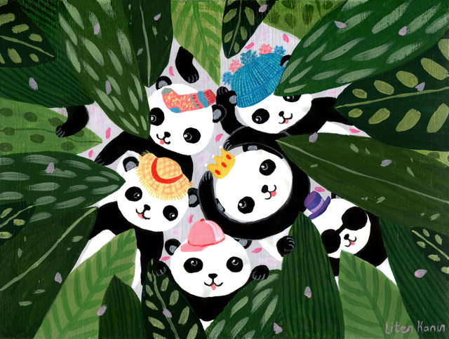 , 'Panda's Hat Party,' 2017, Flower Pepper Gallery