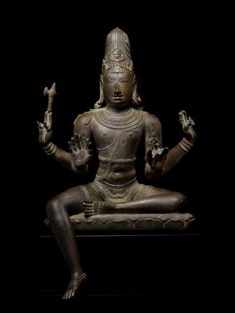 Unknown Indian   Shiva Sukhasanamurti (Chola dynasty-12th ...