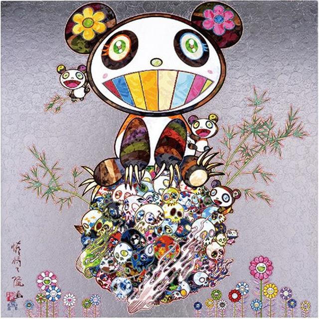 Takashi Murakami, 'Panda and Panda Cubs', 2015, Print, Offset lithograph in colors with foil and gloss varnish on smooth wove paper, Pop Fine Art
