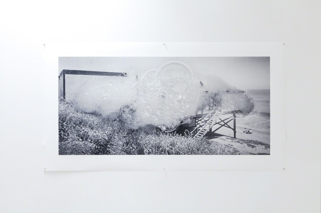 exhibition view: Holliday homes series, On the shore of the Pacific coast, 2017 | archival pigment print on 220 gsm.Innova smooth Art paper, 97x183cm, ohne Rahmen | Edition of 3, No. 1