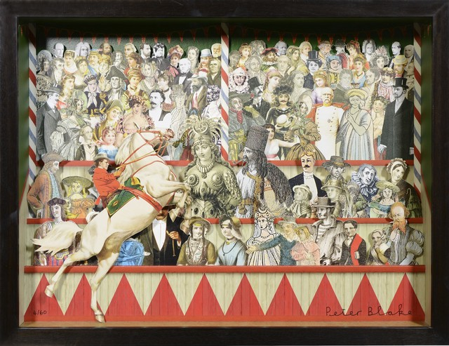 , 'Peter Blake, 3-D Circus Triptych, collage, signed, 2013,' 2013, Shapero Modern