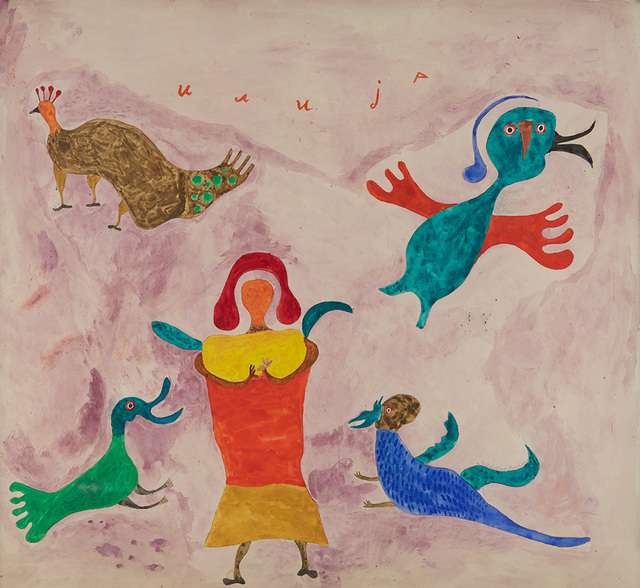 Ilija (Bosilj) Basicevic, 'On Ilijada Birds With Winged Friends', 1963, Cavin-Morris Gallery