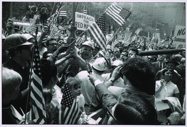 , 'Hard Hat Rally, New York City, 1969,' printed 1978, Princeton University Art Museum
