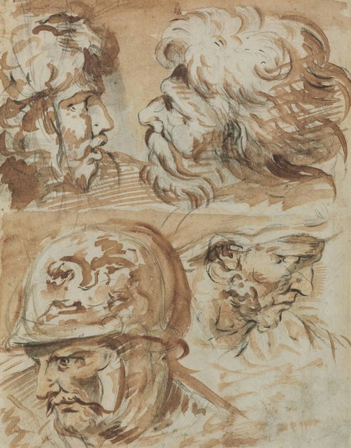 , 'Four heads of Roman soldiers,' , Christie's Old Masters