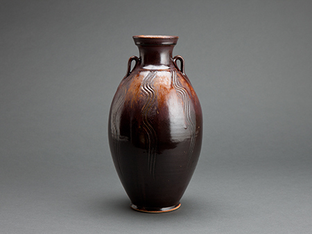 , 'Vase, khaki glaze with combed decoration,' , Pucker Gallery