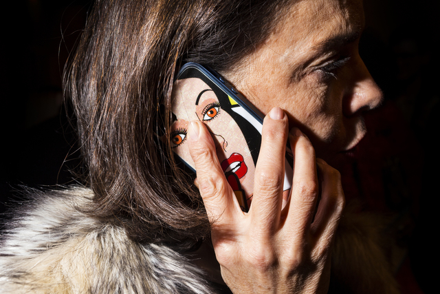 , 'Acne Studios (Lady on Phone),' 2016, Spalding Nix Fine Art