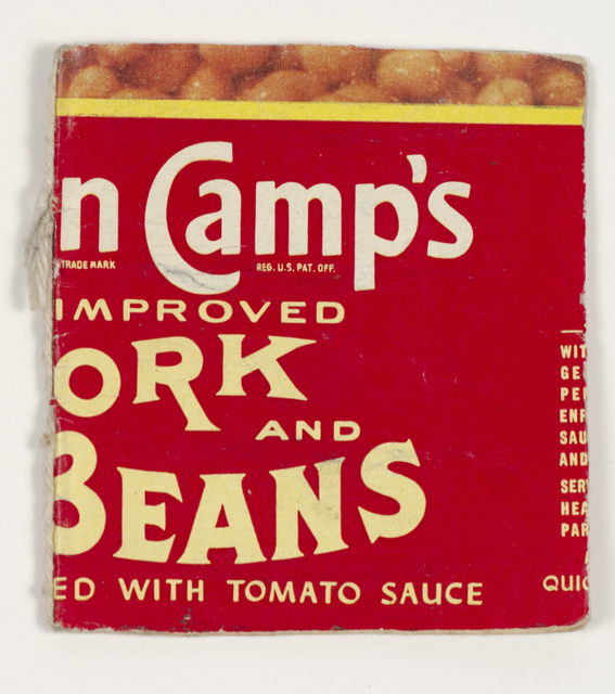 ", 'Untitled (""Van Camps Pork and Beans"" book),' n.d., Fleisher/Ollman"